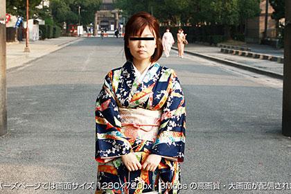 人妻ナンパ『着物の下は果たして…!下着?ノーパン!』 須藤綾乃 29歳