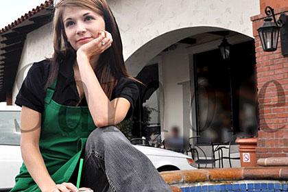 A級かわいい金髪娘発見!元大手ハリウッド映画子役で現在某コーヒーショップでバイト中! / センシー