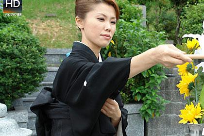 夫の墓前で喪服青姦 宮崎幸恵 36歳