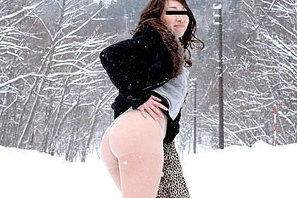 北の国から 雪国で美魔女と露出プレイ三昧、露天風呂セックス 窪井麻里奈
