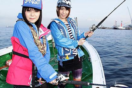 AVプロダクション対抗! チキチキ・海釣り競争 PART2 楓乃々花 桜瀬奈