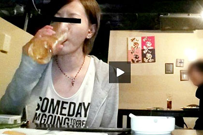 居酒屋ナンパ 1人飲みしてたビッチ女子大生を騙して強襲 鈴木美鈴