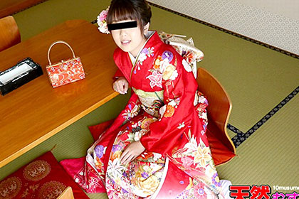 振り袖姿で姫はじめ 今年1発目は撮影でしちゃった♪ 早乙女香澄
