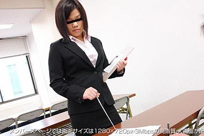 【1/2】進路指導中に女教師が生徒に犯される!?加藤朝見 25歳