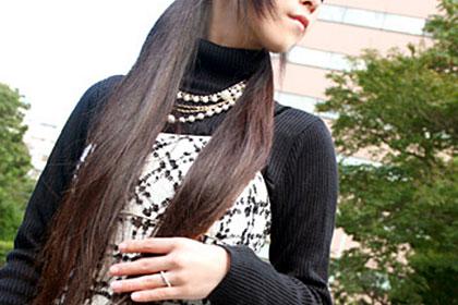 桜井綾乃恍惚の黒髪
