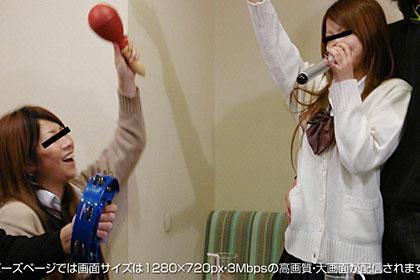 女子校生中出し乱交!悪ノリ4人組ビデオが流出!!蘭子&蓮美