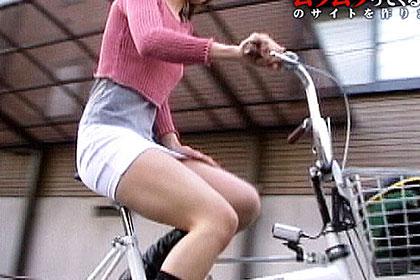 ノーパン自転車で女の子たちが街を疾走!爽やかな春の香りはここからしていた!誰もが覗きたくても覗けなかったデルタ地帯をしっかり撮影しました